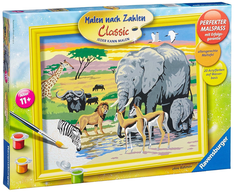 Afrikanische Impression MnZ Serie Malen nach Zahlen Premium von Ravensburger