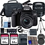 Canon EOS 800D DSLR Camera with 18-55mm is STM Lens with Preferred Accessory Bundle – Includes 2X 64GB SD Memory Cards…