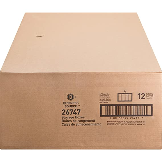 Amazon.com : Business Source Medium Duty Legal-sz Storage Box (26747) : Office Products