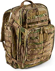 5.11 Tactical Backpack ' Rush 72 2.0 ' Military Molle Pack, CCW and Laptop Compartment, 55 Liter, Large, Style 56565 ' Multicam