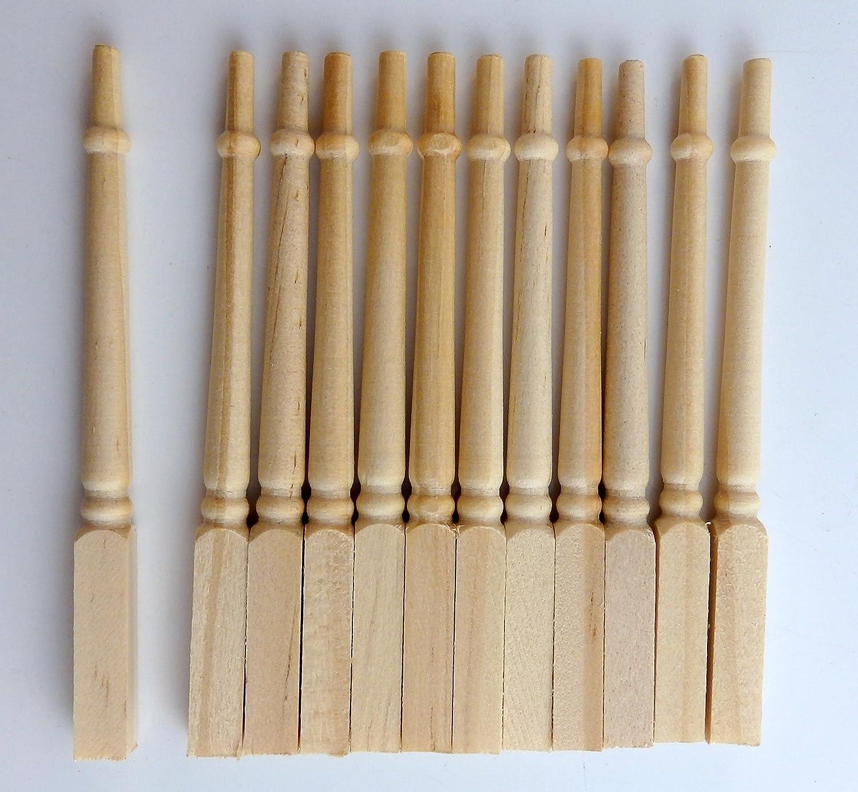 Amazon.es: Miniatura Para Casa De Muñecas Bricolaje Constructores madera Merchants Escalera husos balusters: Juguetes y juegos