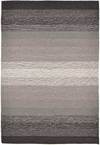Liora Manne Ravella Casual Ombre Indoor Outdoor Rug, 2 X 3 , Charcoal Black and Grey
