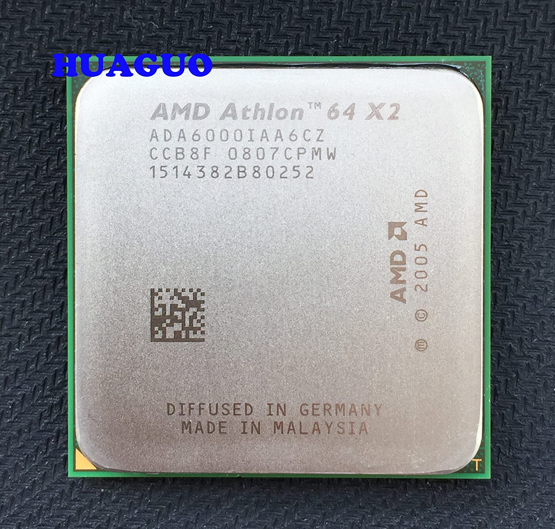 Amazon Com Amd Athlon 64 X2 6000 3 Ghz Dual Core Cpu Processor Ada6000iaa6cz Socket Am2 2mb 89w Computers Accessories