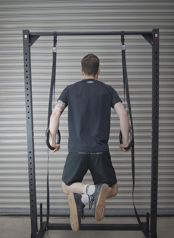Protone Anillas Gimnasia - peso corporal Fuerza Entrenamiento en Suspensión Sistema para el hogar / Gimnasio/crossfit