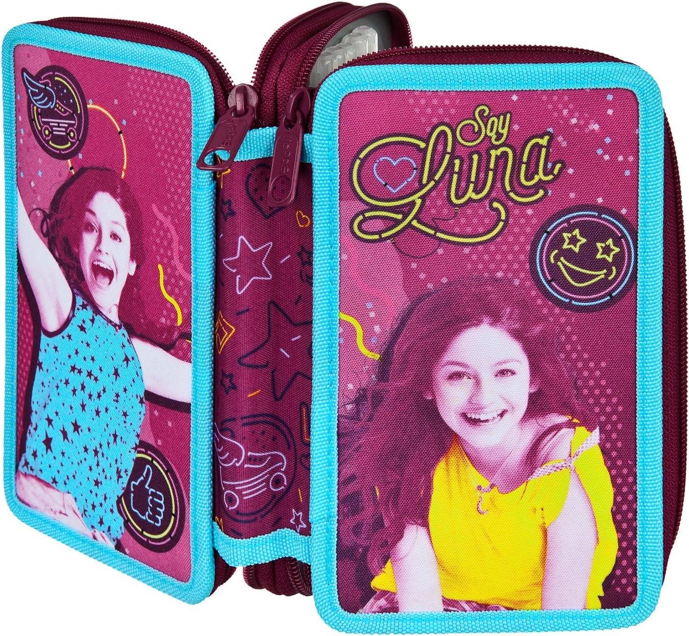 Scooli SODF0433 – Estuche doble con relleno Stabilo de la marca Disney Soy Luna: Amazon.es: Juguetes y juegos