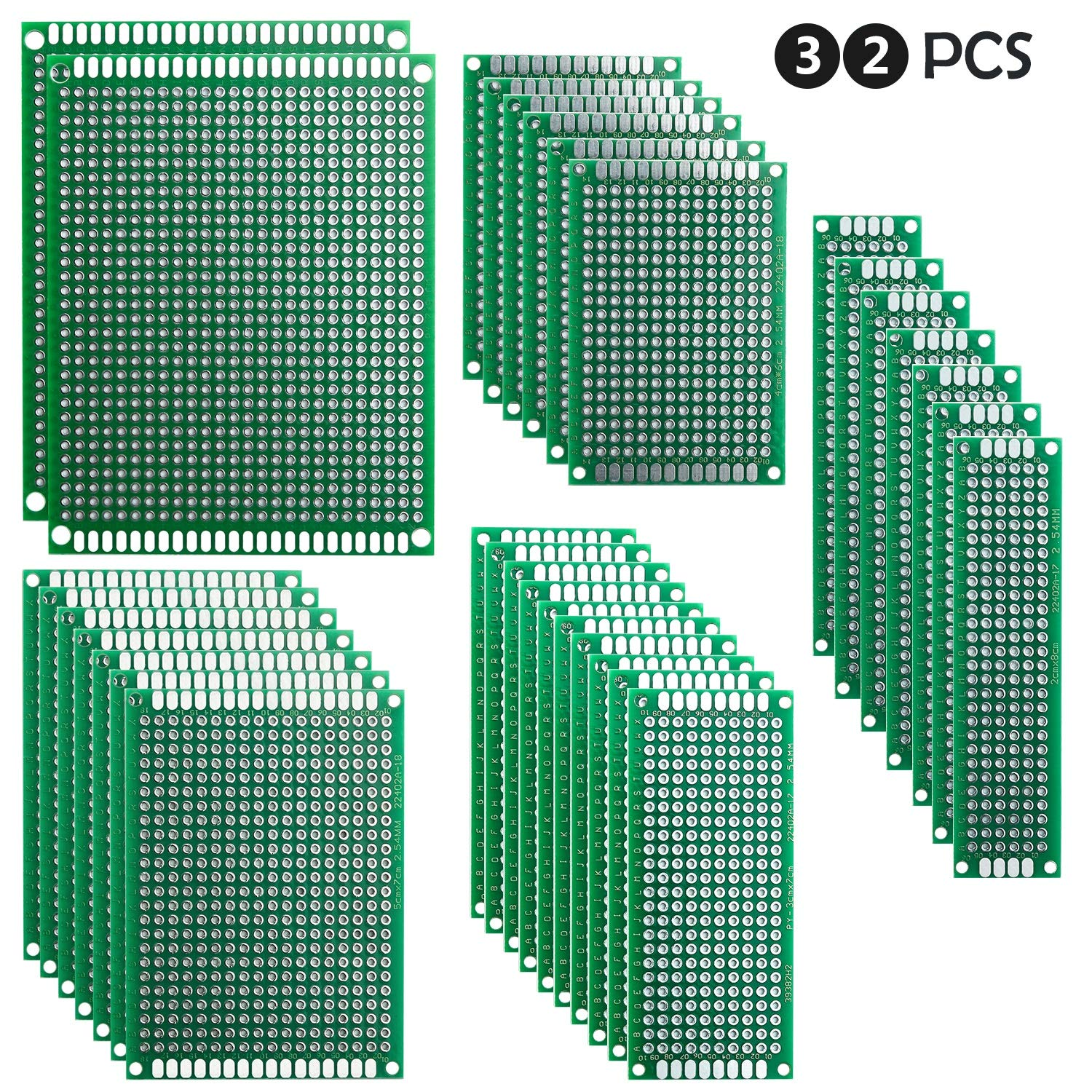 Pcb Board Double Sided 7x9cm Universal Printed Circuit Doublesided Boards Protoboard For Diy Soldering And Electronic