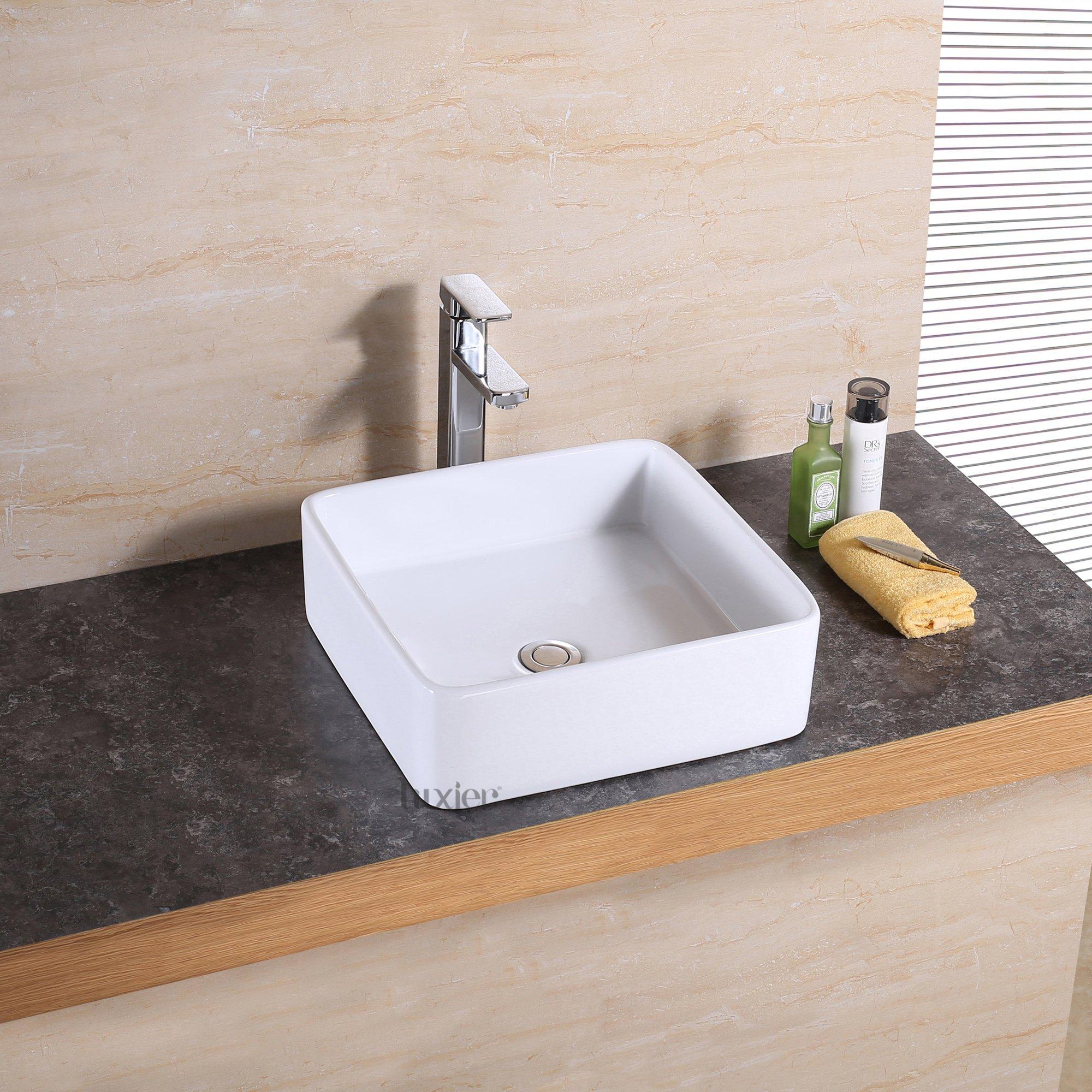 Luxier CS-025 Bathroom Porcelain Ceramic Vessel Vanity Sink Art Basin