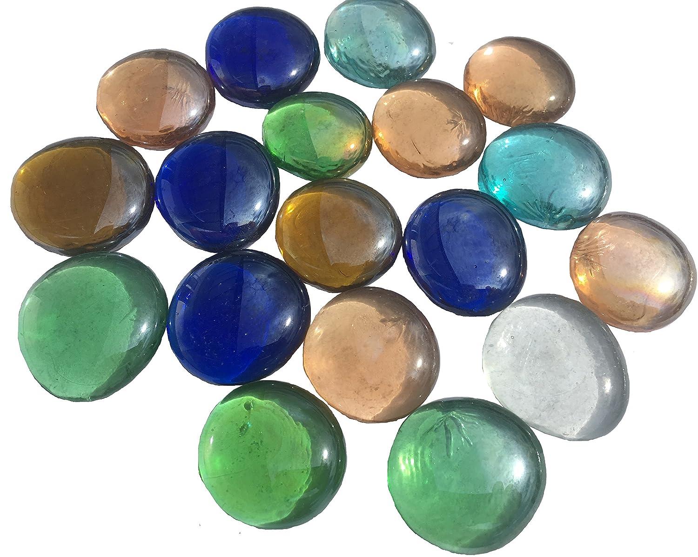 Miscela colorati pietre di vetro Nuggets 3, 5cm 300G decorazione sfere vetro sfere di vetro decorativo tavolo decorazione vaso decorativo imbottitura pietre di vetro multicolore piatto da Crystal King