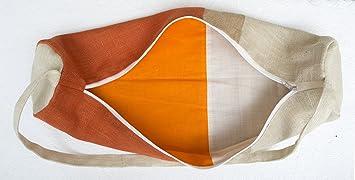 Estera de Yoga bolsa - artesanal naranja yute bolsas de ...