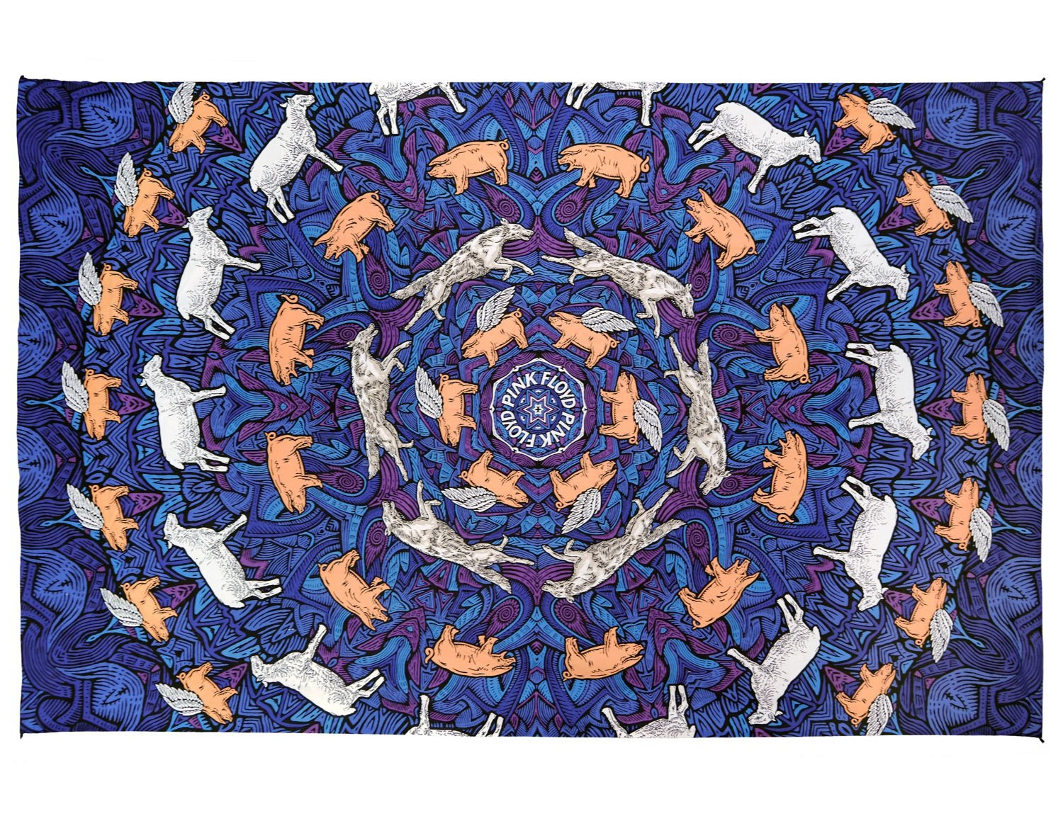 Sunshine Joy 3D Pink Floyd Animals Tapestry Psychedelic Wall Art Huge 60x90 Inches by Sunshine Joy