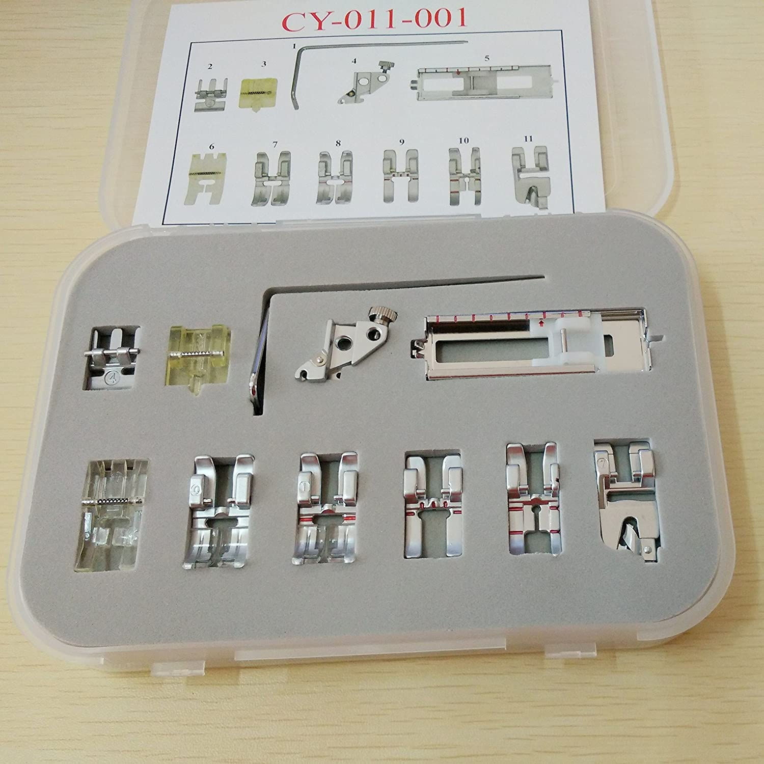 Honeysew Pfaff 1020 1025 1027 Set 11 Pcs Snap On Presser Foot Set Pfaff Creative Quilt Expression Tiptronic Select Amazon Ca Home Kitchen