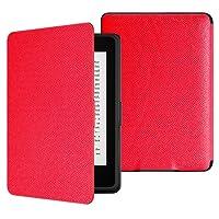MoKo Kindle Paperwhite Case - Custodia Origami Ultra Sottile per Amazon Nuovo Kindle Paperwhite (Adatto Tutte le versioni 2012, 2013, 2015 e 2016), ROSSO