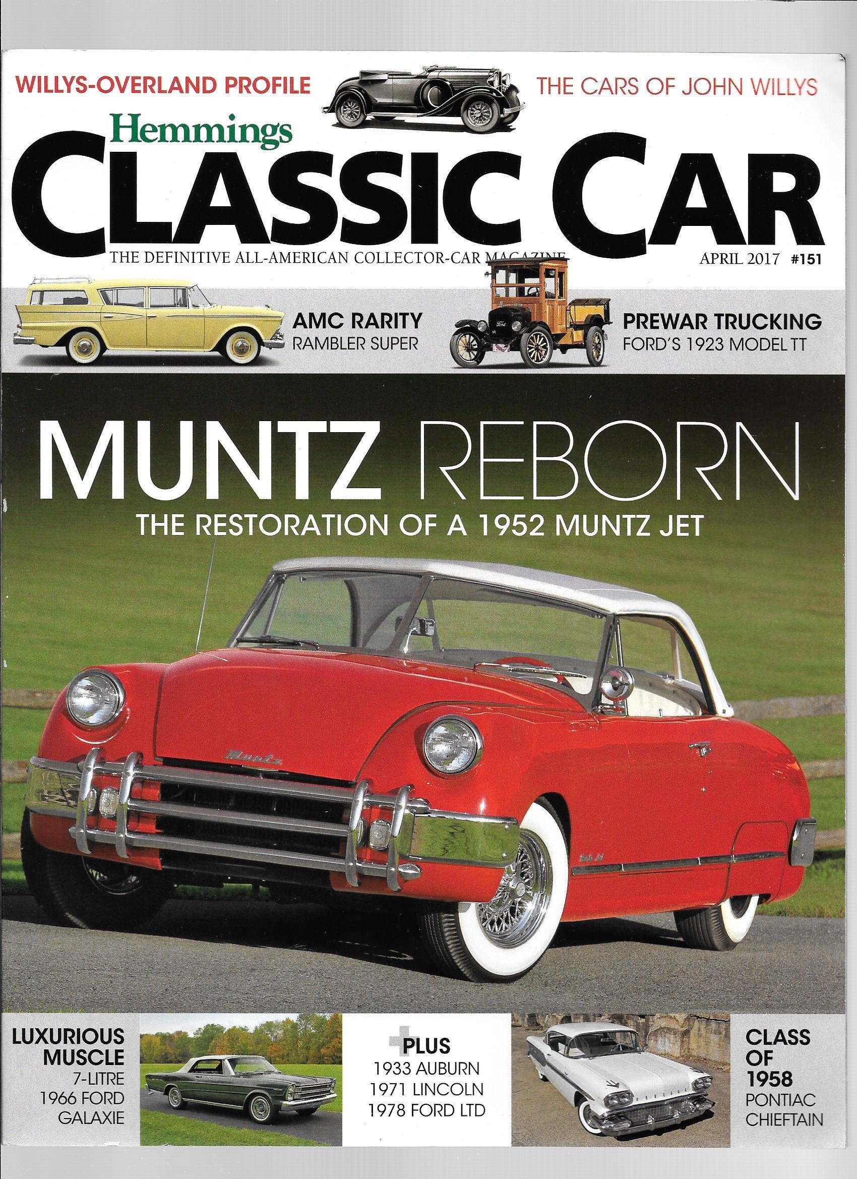 Hemmings Classic Car magazine, April 2017, #151: Hemmings ...