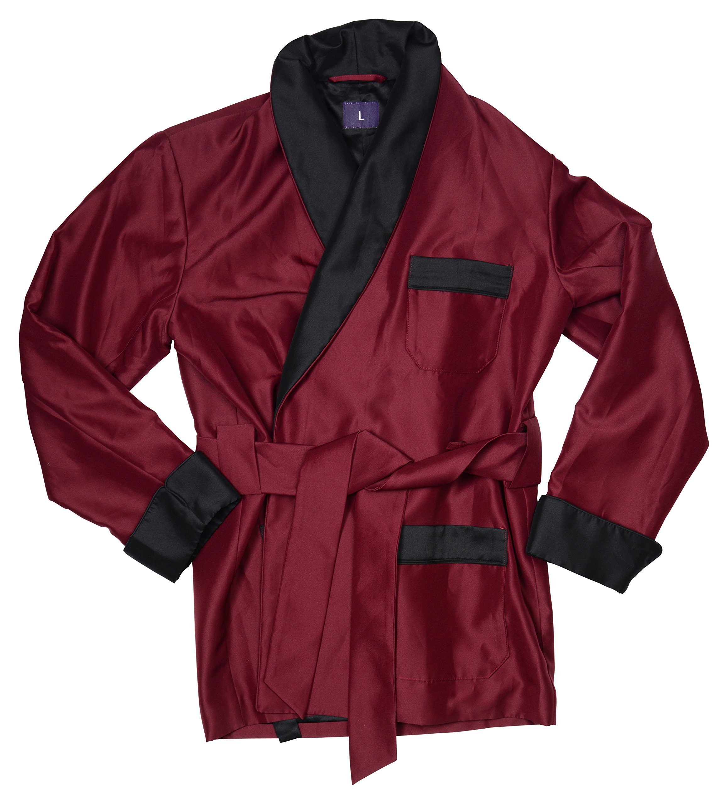 Men's Smoking Jacket Perry Burgundy by Duke & Digham