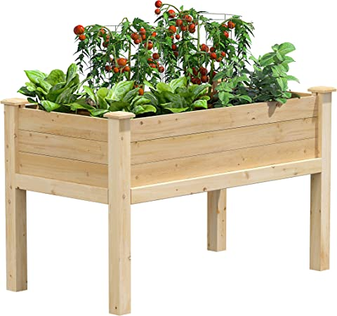 Garden Center Bed Dovetail Joint Construction Cedar Raised Outdoor Greenes Fence