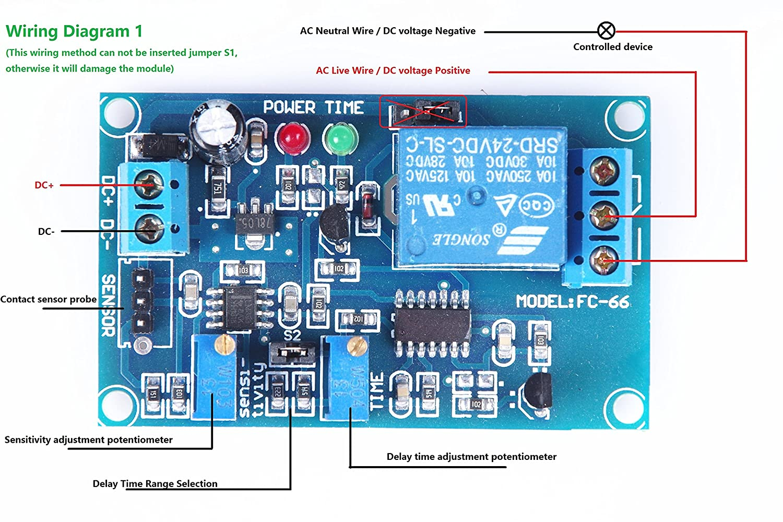 Knacro Srd 24vdc Sl C Dc24v Tcrt5000 Infrared 91 Probe Wiring Diagram Photoelectric Sensor Relay Module Optical Delay Matt Version Non Reflective Trigger