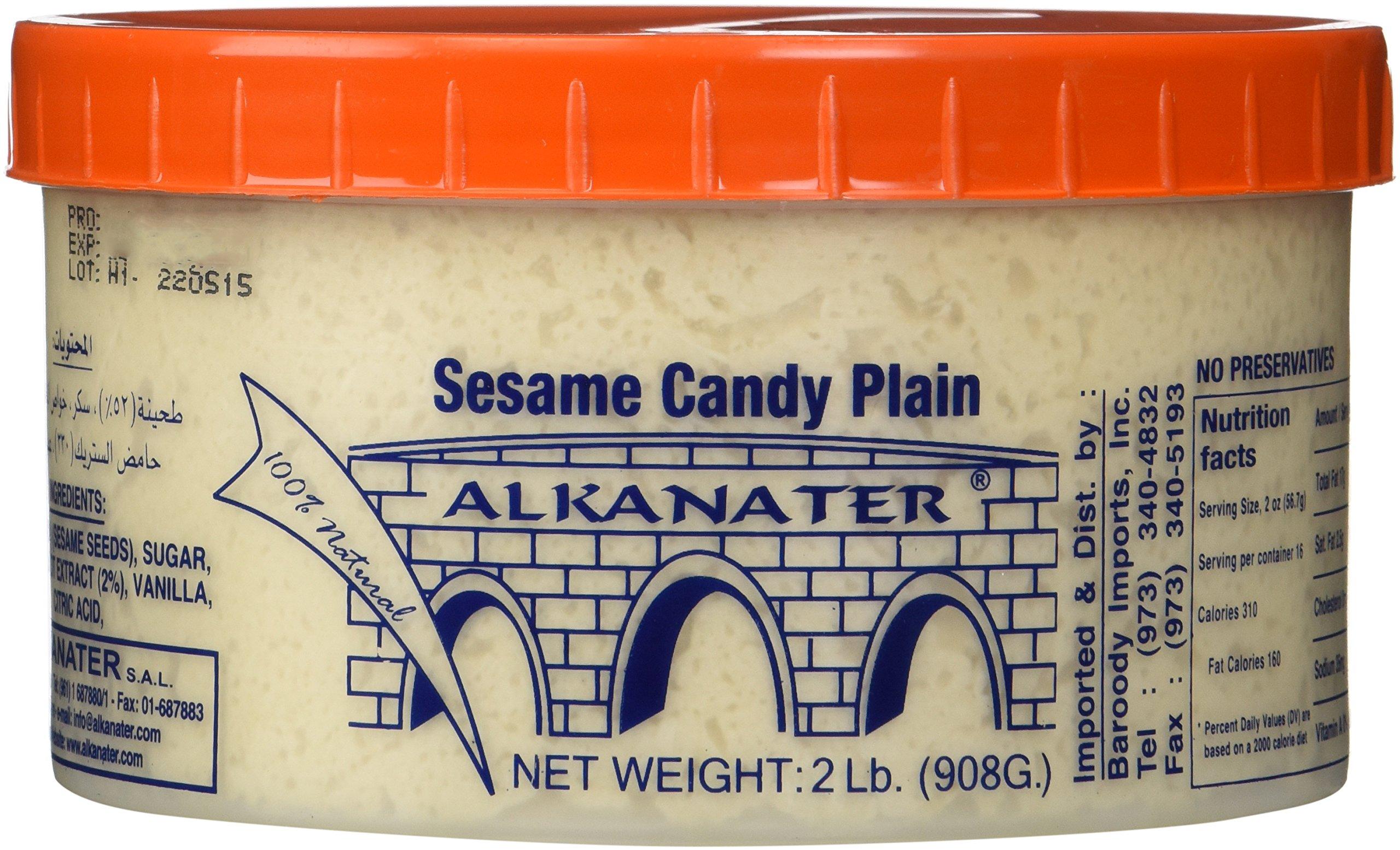Alkanater Halawa, Sesame Candy 2 Lb (32 Ounces) (Plain)