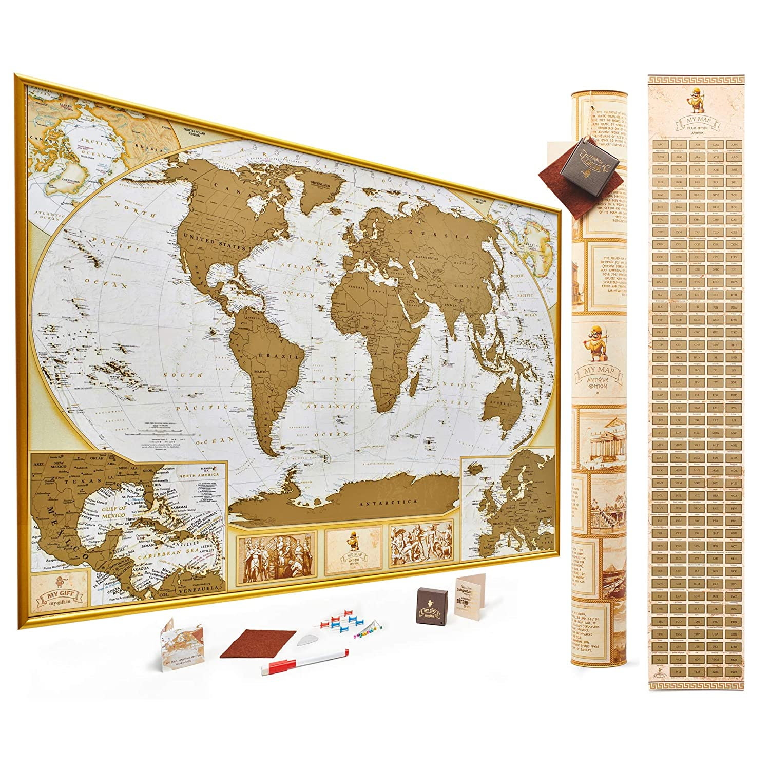 Antique Edition Gold Scratch Off World Map, Very Detailed -10.000 Cities on london's map, around the world map, quartz crystal map, true map, crazy world map, iron mining map, classic map, black map, tin deposits map, original map, metallic map, diamond map, old west map, gilgal map, iron deposits map, natural earth map, blue china map, blue ocean map, tin ore map, china bubble map,