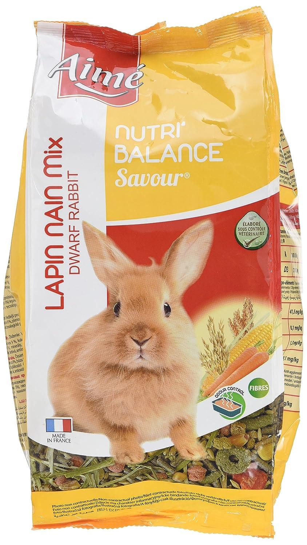 Aime Nourriture Nutri'Balance Savour Mix Lapin Nain 900 G pour Petits Animaux - Lot de 4 Agrobiothers 100204