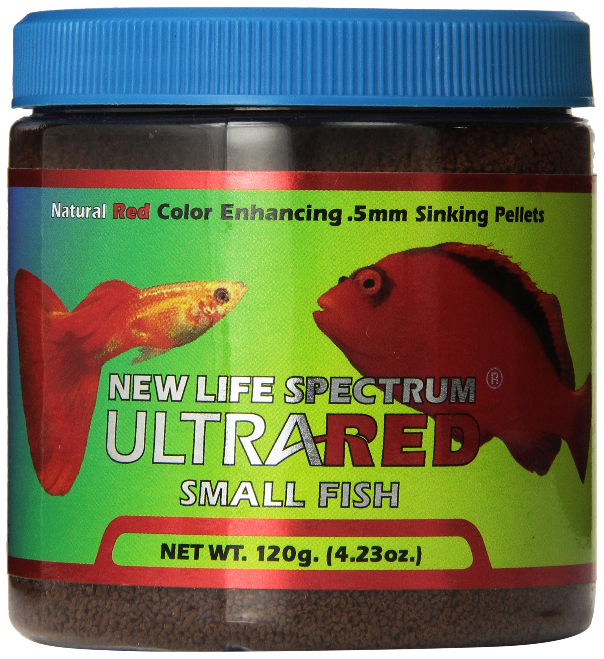 New Life Spectrum UltraRED Small Red Enhancer 0.5mm Sinking Pet Food, 120gm