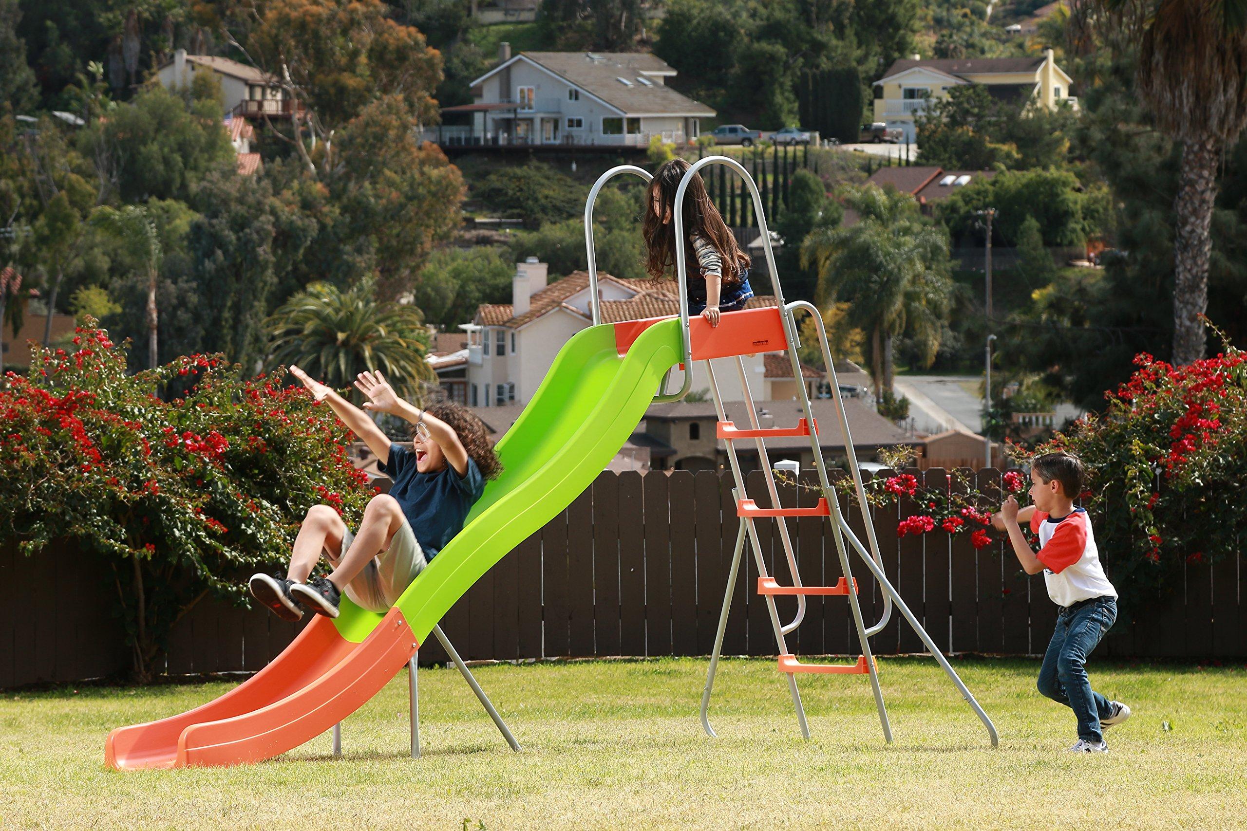 SLIDEWHIZZER Outdoor Play Set Kids Slide: 10 ft Freestanding Climber, Swingsets, Playground Jungle Gyms Kids Love - Above Ground Pool Slide for Summer Backyard by SLIDEWHIZZER (Image #6)