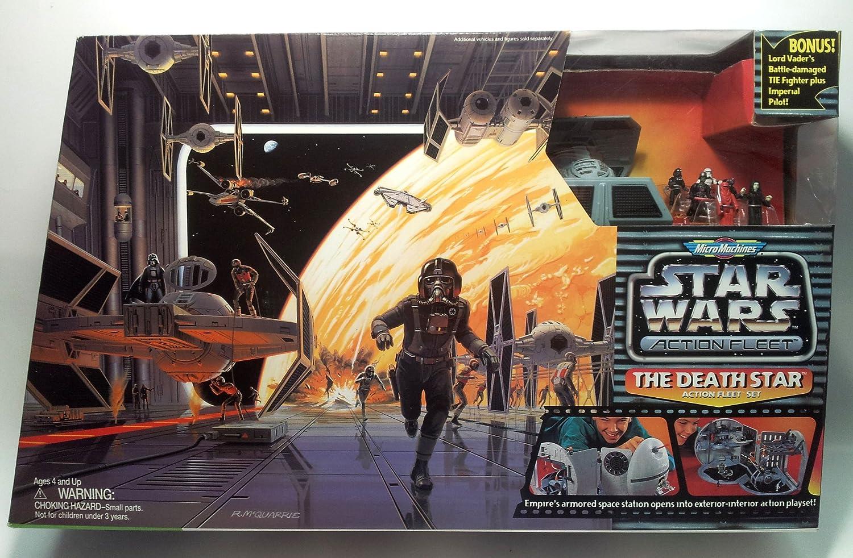 Star Wars Micro Machines Action Fleet Darth Vader TIE FIGHTER Battle Damage 1996