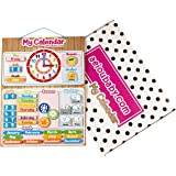 aeioubaby.com CALENDAR CLOCK Magnetic for wall or refrigerator,Date,Weather & Time 17x12.6 in