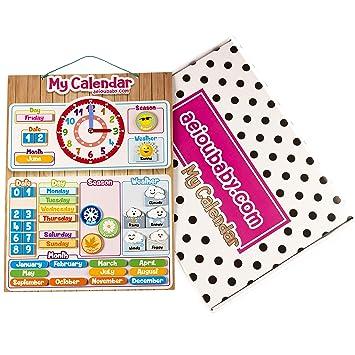 Aeioubabycom Calendario Reloj Magnético Infantil Juego Educativo