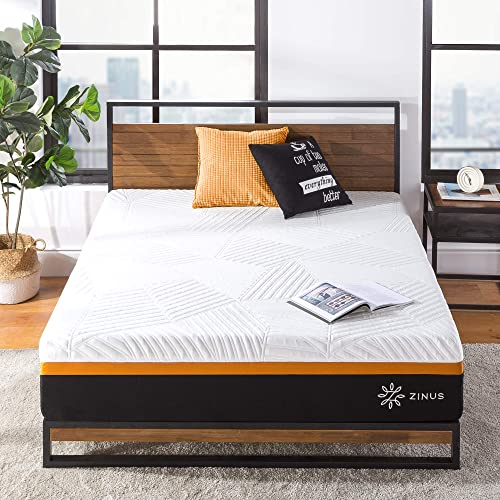ZINUS 12 Inch Cooling Copper ADAPTIVE Pocket Spring Hybrid Mattress / Moisture Wicking Cover / Cooling Foam / Pocket Innerspring