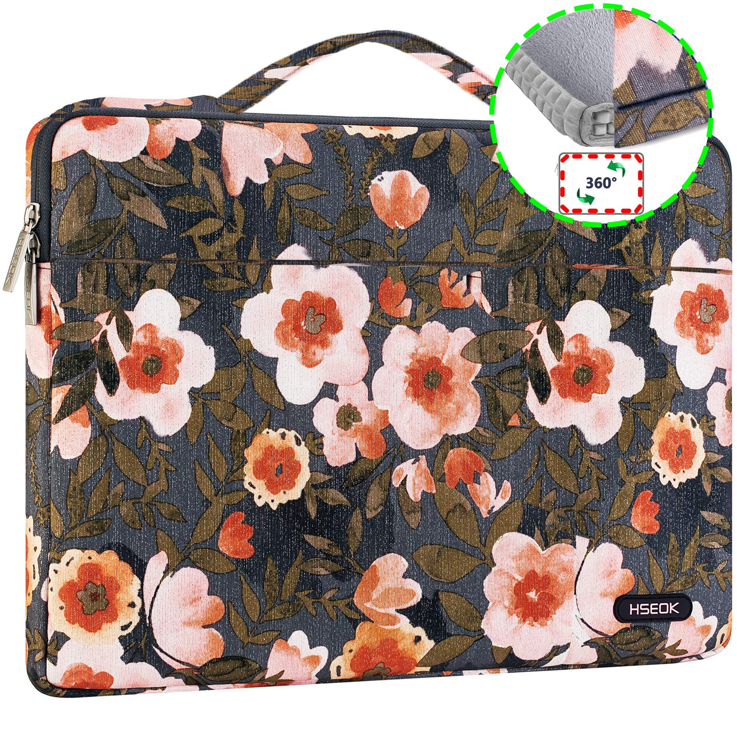 6a19af82d286 HSEOK Golden Flower Laptop Sleeve 15.6-Inch Case Briefcase for Most 15-15.6  Inch Notebook Dell/Ausu/Acer/HP/Toshiba/Lenovo,Spill and Drop Resistant ...
