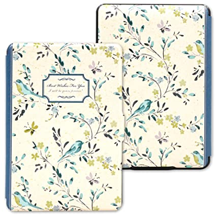 b66551e246e1 Kandouren Amazon Kindle Paperwhite Case - Blue Bird Art Skin ...