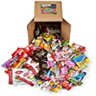 Your Favorite Mix of Premium Candy! 3 Pounds of Gummi Bears, Skittles, M&M's, Blow Pop's, Tootsie Rolls, Mike & Ike's, & More.(Packed in a 6 inch cube box)