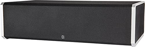 Definitive Technology CS-9060 Center Channel Speaker Built-in 8 150-Watt Powered Subwoofer for Home Theater High Performance Premium Sound Quality Single, Black