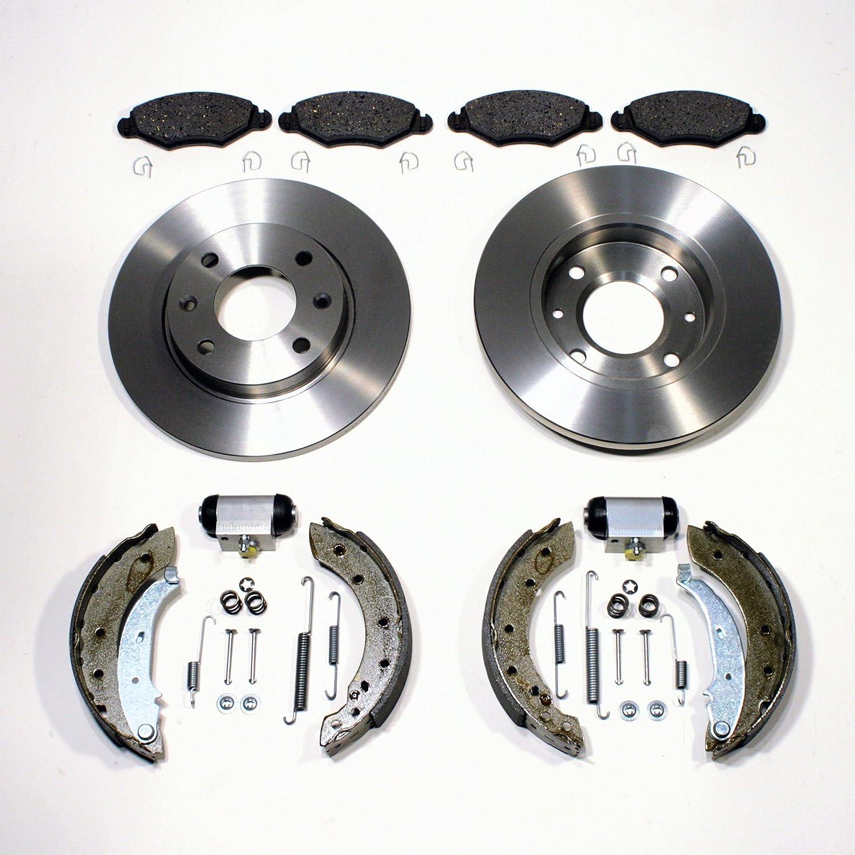 FOR PEUGEOT 206 FRONT BRAKE DISCS SOLID BRAKE DISCS BRAKE PADS