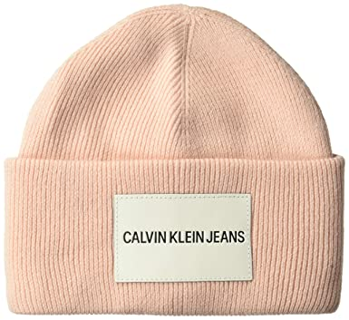 Calvin Klein Men's Jeans Beanie, Desert Rose, One Size