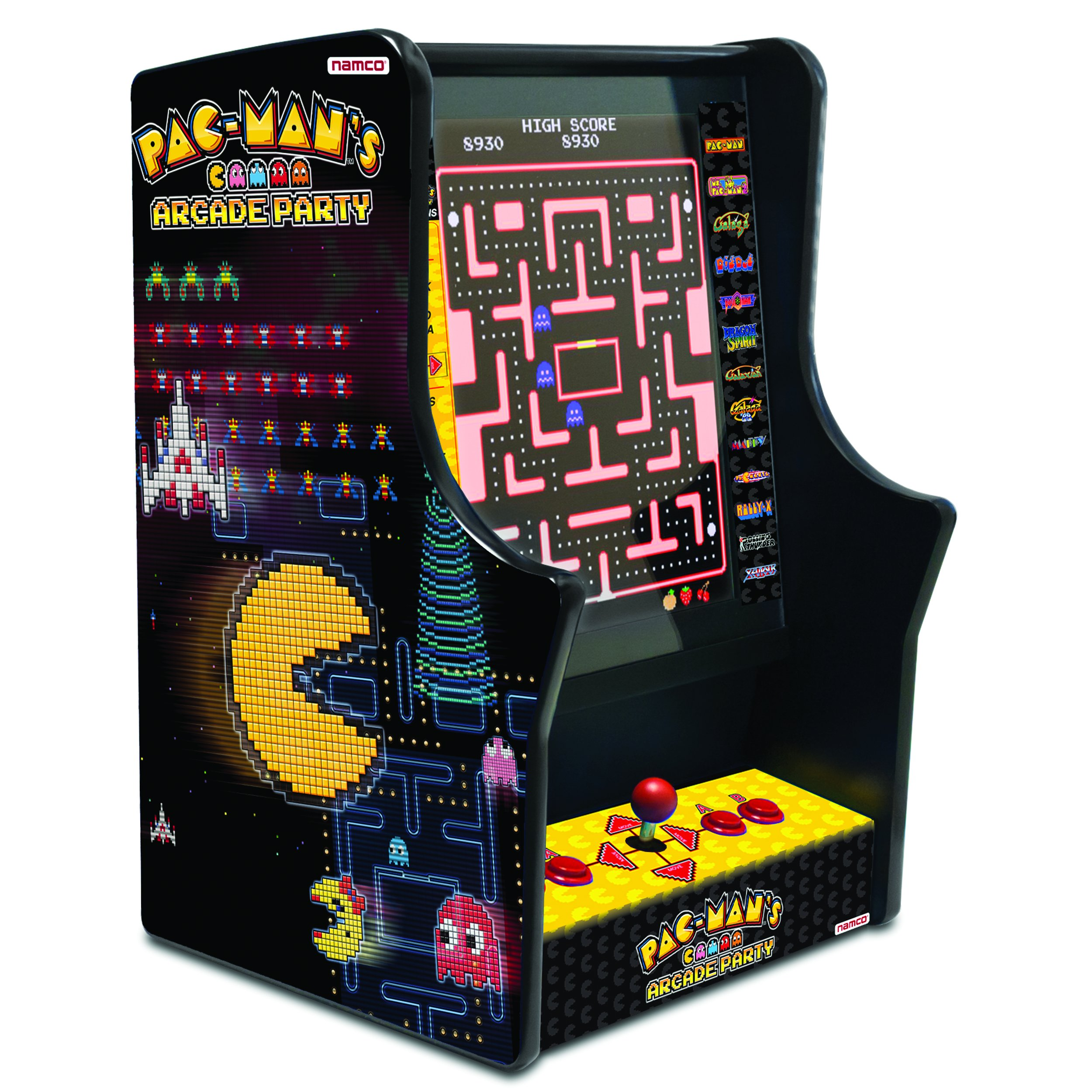 Pac-Mans Arcade Party Tabletop Arcade Machine with 13 Classic Games, 17-Inch LCD Screen and Controls by Namco