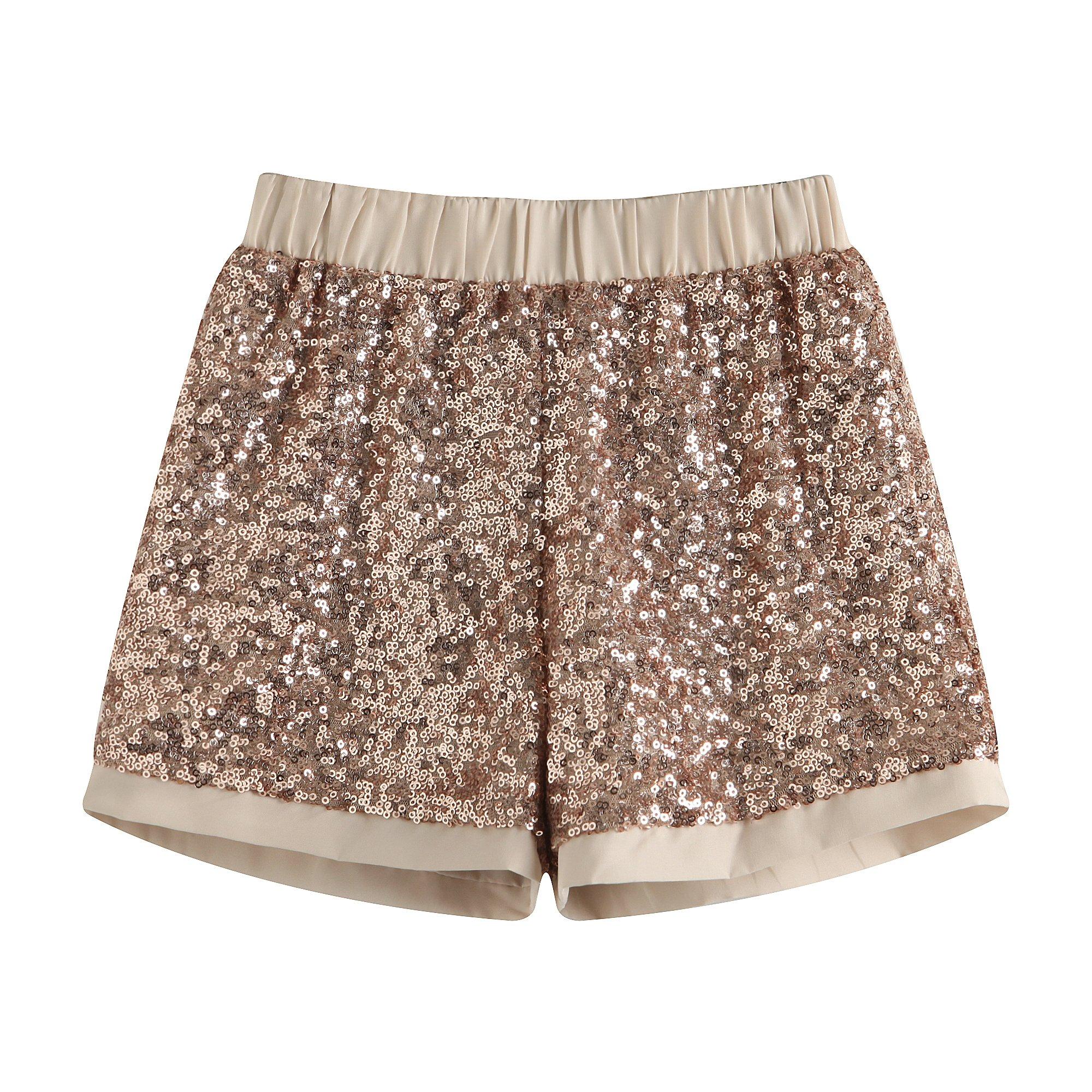Richie House Little Big Girls' Short Pants with Sequins RH1854