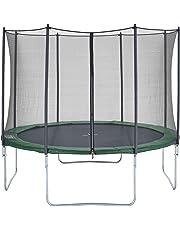 CZON SPORTS trampolino, tappeto elastico con rete di sicurezza, verde|trampolino elastico da giardino|trampolino bambini