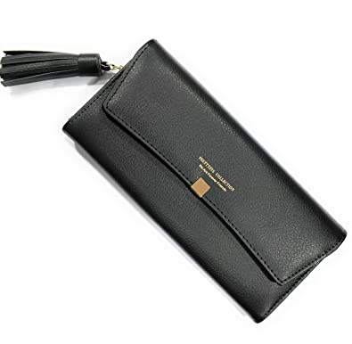 7efb836bc83 MOCA Women's Wallet Clutch Long Purse Hand Purse for Women's Girls Ladies  Wallet Purse Clutch Hand Purse with Push Lock Phone Bag Case Checkbook ...