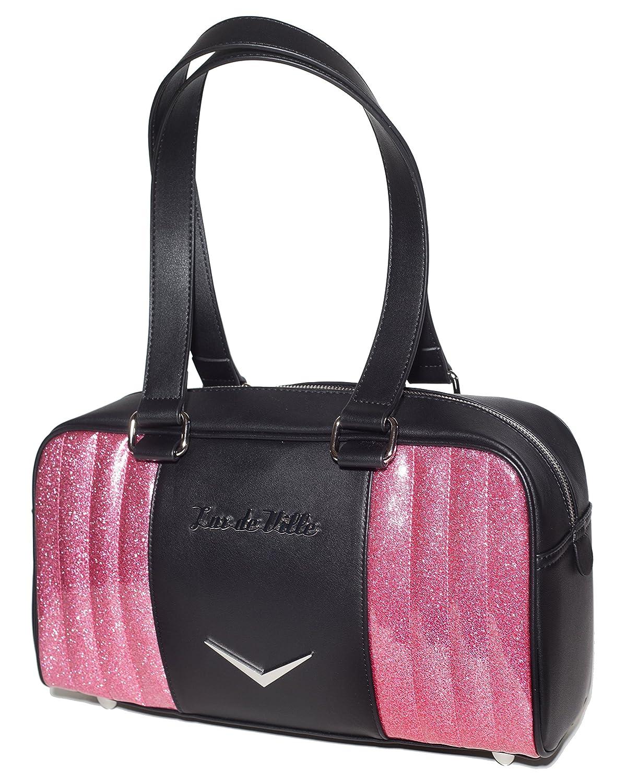 Lux De Ville ACCESSORY レディース B07DLBK1VL Black Matte and Pink Sparkle