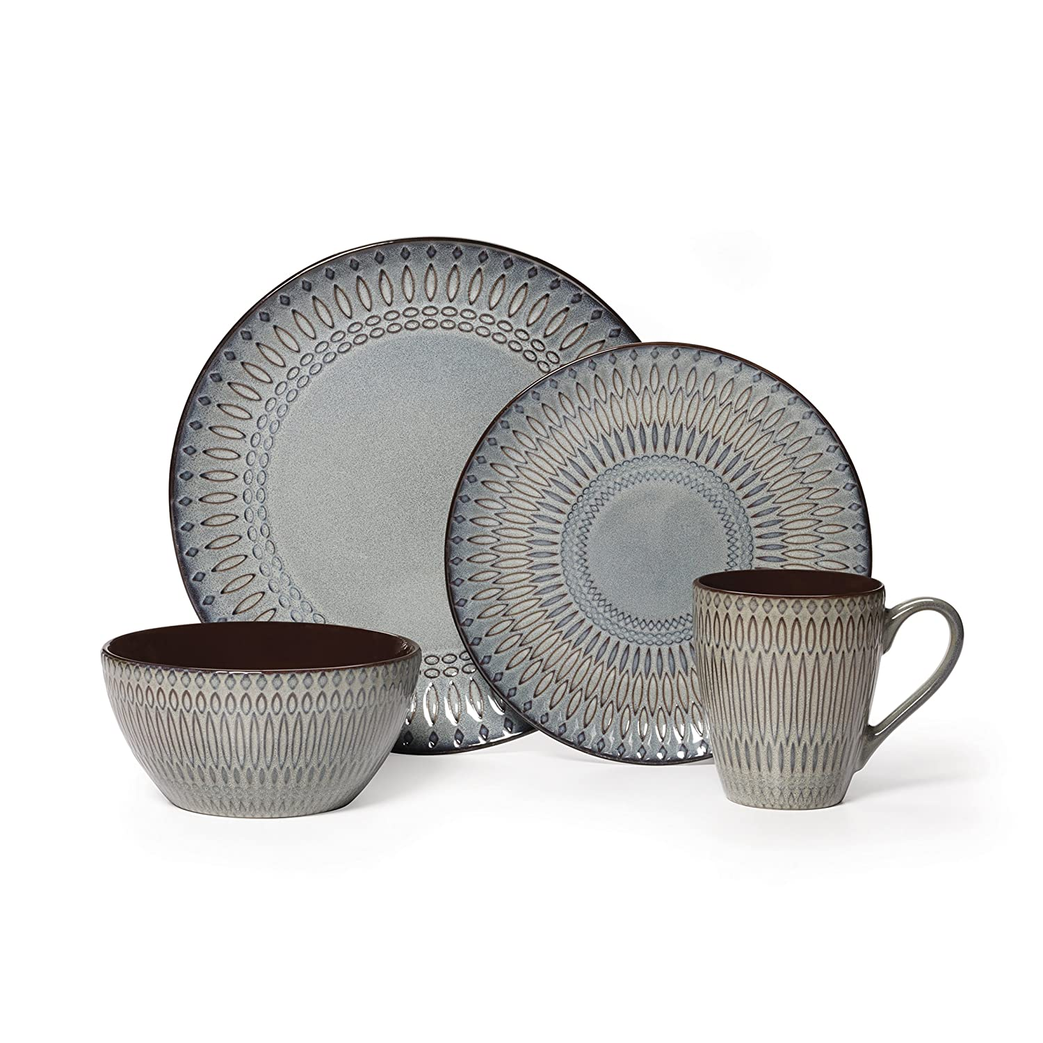 Amazon.com | Gourmet Basics by Mikasa Broadway 16 Piece Dinnerware Set (Set of 4) Assorted Dinnerware Sets  sc 1 st  Amazon.com & Amazon.com | Gourmet Basics by Mikasa Broadway 16 Piece Dinnerware ...