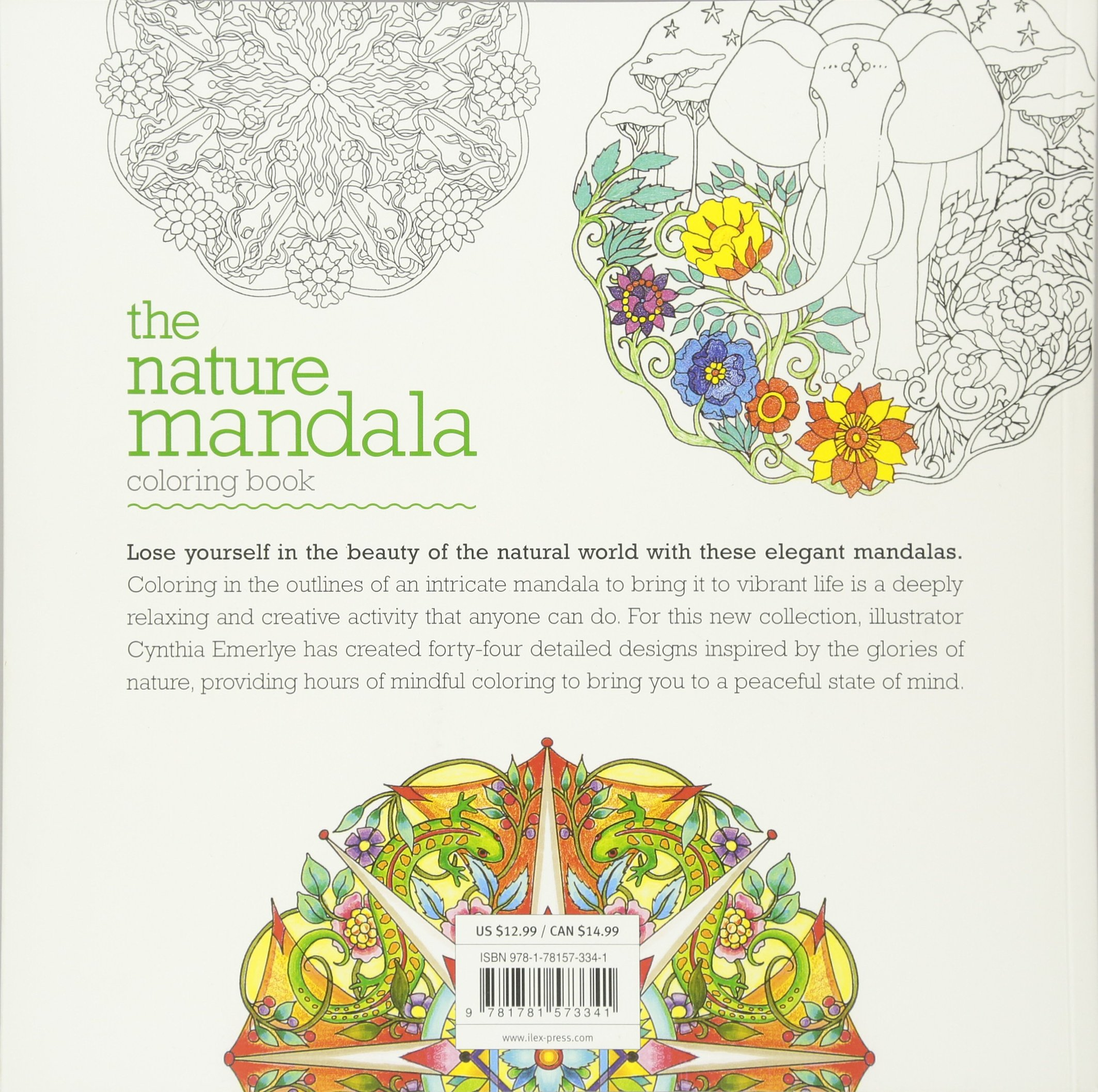 Little book of coloring for mindfulness - Amazon Com The Nature Mandala Coloring Book 9781781573341 Cynthia Emerlye Books