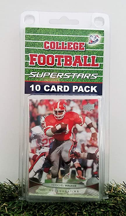 0aaf2fd626b Amazon.com  Georgia Bulldog-(10) Ten Card Pack College Football ...
