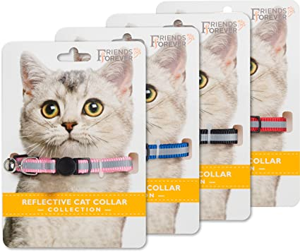 Amazoncom Friends Forever Breakaway Cat Collar 4 Pack Fancy