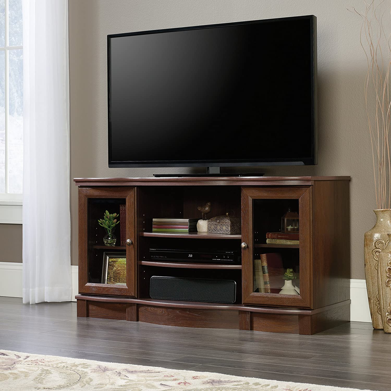 Sauder 419963 Regent Place TV Stand, For TV s up to 50 , Euro Oak finish