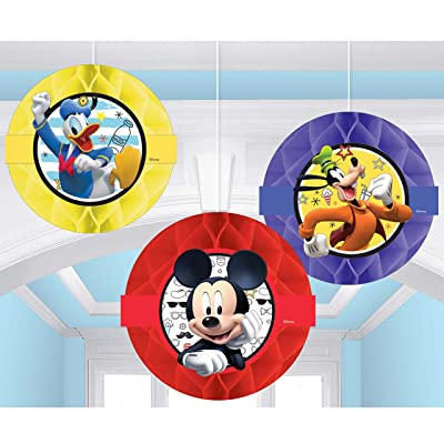 amscan Disney Mickey on The Go Honeycomb Decoration, Party Favor: Toys & Games