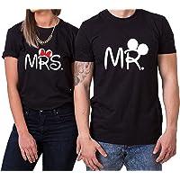 WhyKiki Mister Misses T-Shirt PartnerLook Couple Set Doux pour Les Couples comme des Cadeaux de