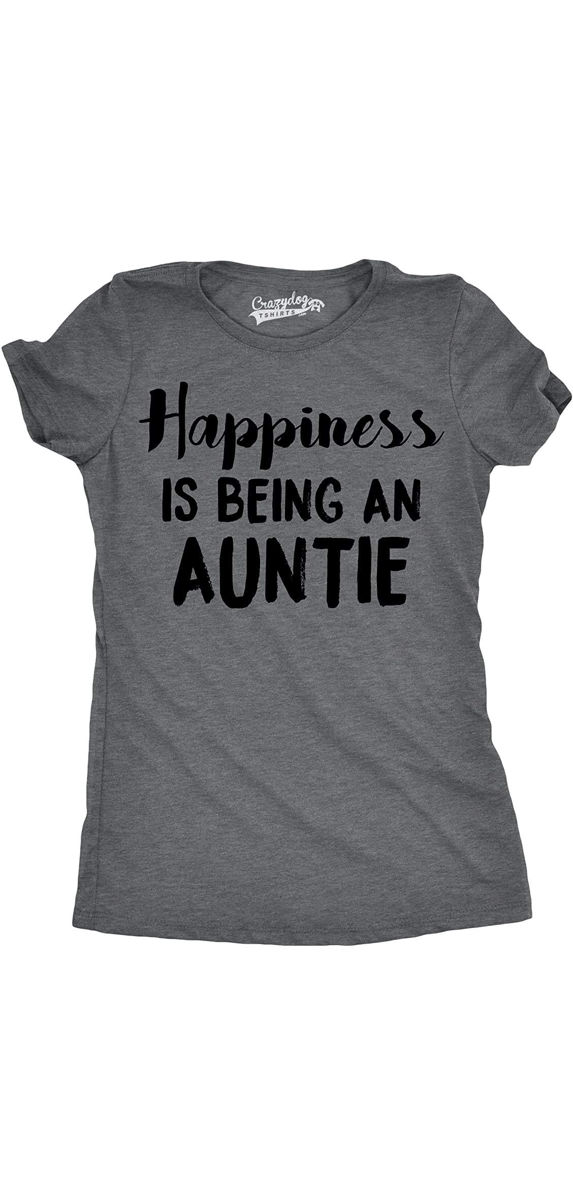 Womens Happiness Is Being An Auntie Funny For Best Aunt T Shirt