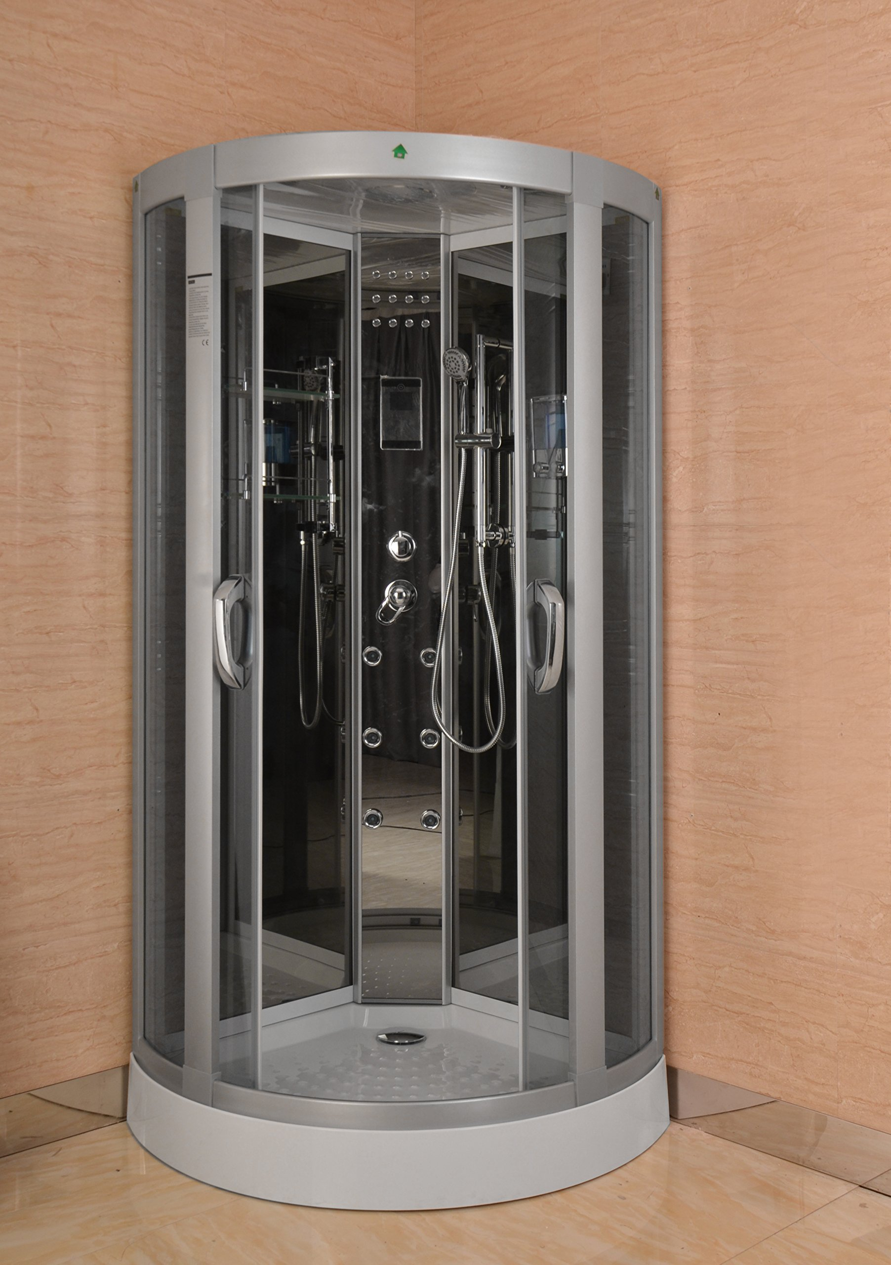 Luxury Kokss 9040 Shower enclosure 36'' x 36'' Multi function hand shower overhead rain, 3 body massage jets and LED Lights with touch screen computer by bath masters (Image #1)