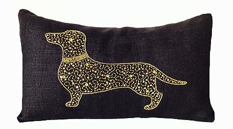 Amazon.com: Amore Beaute personalizable negro burlap Pillow ...
